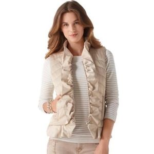 WHBM Brushed light gold scallop vest - Size S